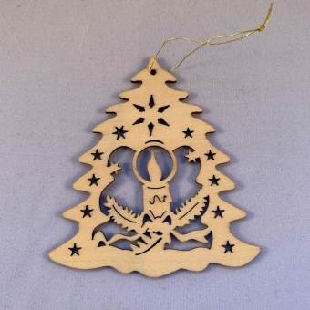 Kersthanger van hout